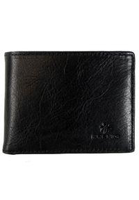 Krenig - Portfel skórzany męski KRENIG Classic 12003 czarny w pudełku. Kolor: czarny. Materiał: skóra