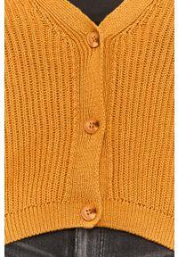 Żółty sweter rozpinany Answear Lab długi, na co dzień, wakacyjny