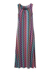 Sukienka Cellbes dopasowana, w kolorowe wzory