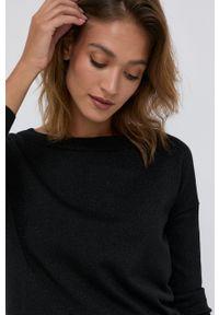Silvian Heach - Sweter. Okazja: na co dzień. Kolor: czarny. Materiał: materiał. Długość rękawa: długi rękaw. Długość: długie. Styl: casual