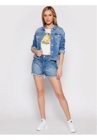 Wrangler T-Shirt High Rib W7N9GHW05 Beżowy Regular Fit. Kolor: beżowy