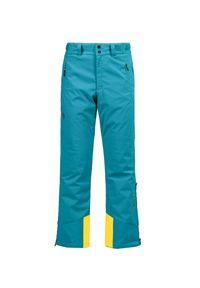 Żółte spodnie narciarskie Descente na zimę