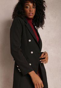 Renee - Czarna Marynarka Parthopis. Okazja: na spotkanie biznesowe. Kolor: czarny. Materiał: tkanina. Długość: długie. Styl: wizytowy, klasyczny, biznesowy #5