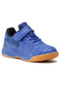 Kappa - Sneakersy KAPPA - Furbo Oc K 2607760CK Blue/Black 6011. Okazja: na co dzień. Zapięcie: rzepy. Kolor: niebieski. Materiał: skóra ekologiczna, skóra, materiał. Szerokość cholewki: normalna. Styl: casual