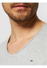 Tommy Jeans T-Shirt Jaspe DM0DM09587 Szary Slim Fit. Kolor: szary