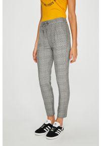 Szare spodnie materiałowe Vero Moda z podwyższonym stanem