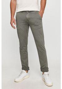 Zielone spodnie Pepe Jeans casualowe, na co dzień