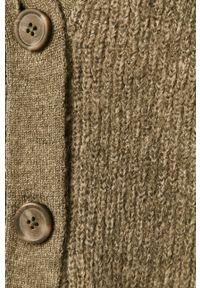 Zielony sweter rozpinany Jacqueline de Yong na co dzień, casualowy