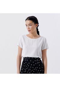 Cropp - Gładka bluzka - Biały. Kolor: biały. Wzór: gładki