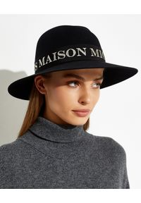 MAISON MICHEL PARIS - Czarny kapelusz Virginie. Kolor: czarny. Materiał: materiał. Wzór: aplikacja