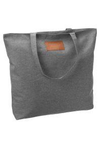 Duża torba z tkaniny szara Maledives SB-01-MAL-5877 GRAY. Kolor: szary. Wzór: melanż