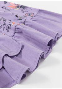 Koszula nocna bonprix w kolorze bzu z nadrukiem