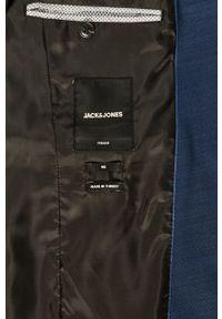 Niebieska marynarka Premium by Jack&Jones klasyczna, z klasycznym kołnierzykiem