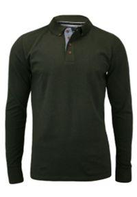 Zielony t-shirt Brave Soul z długim rękawem, długi, polo