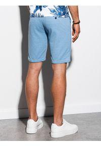 Niebieskie szorty Ombre Clothing krótkie, na co dzień, casualowe #6