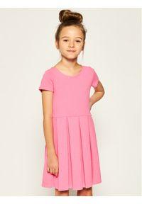 Różowa sukienka Polo Ralph Lauren prosta, na co dzień, polo, casualowa