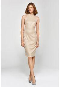 Sukienka ołówkowa, z dekoltem halter, elegancka