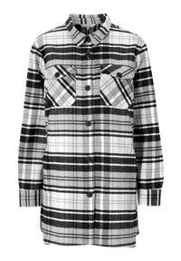 Cellbes Kraciasta kurtka koszulowa w kratkę female ze wzorem 46/48. Długość rękawa: długi rękaw. Długość: długie. Wzór: kratka