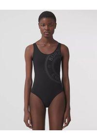 Burberry - BURBERRY - Czarny kostium kąpielowy z logo. Kolor: czarny. Materiał: tkanina, materiał