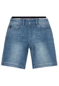 Emporio Armani Szorty jeansowe 3H4S12 4DFNZ 0942 Granatowy Regular Fit. Kolor: niebieski. Materiał: jeans
