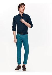 Niebieska koszula TOP SECRET w kolorowe wzory, na wiosnę, casualowa, na co dzień