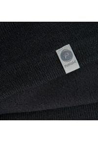 Zimowa czapka męska PaMaMi - Czarny. Kolor: czarny. Materiał: akryl. Sezon: zima