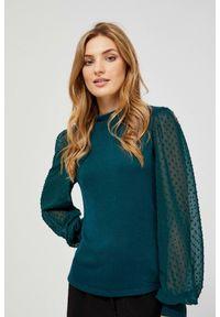 Sweter MOODO długi, gładki, z długim rękawem