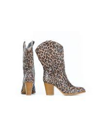 Kozaki Zapato w kolorowe wzory, wąskie