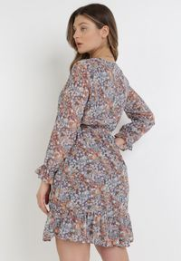 Born2be - Niebieska Sukienka Hasohsa. Kolor: niebieski