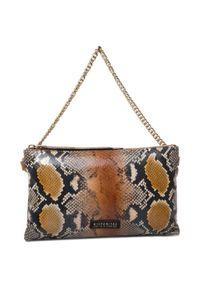 Brązowa torebka klasyczna Hispanitas klasyczna, zamszowa