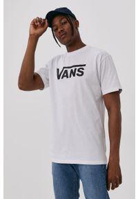 Vans - T-shirt. Okazja: na co dzień. Kolor: biały. Materiał: dzianina. Wzór: nadruk. Styl: casual