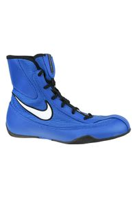 Niebieskie buty treningowe Nike z cholewką, w kolorowe wzory