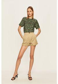 Zielone szorty Pepe Jeans gładkie, casualowe