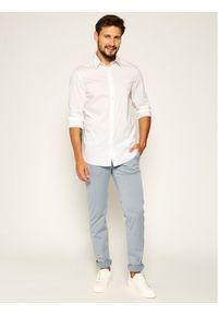 Pierre Cardin Spodnie materiałowe Lyon 33747/000/4777 Niebieski Regular Fit. Kolor: niebieski. Materiał: materiał