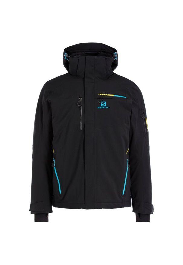 Czarna kurtka narciarska salomon