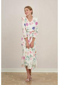Marie Zélie - Sukienka Sophia Formosa. Materiał: bawełna, wiskoza, materiał, skóra, guma. Długość rękawa: krótki rękaw. Długość: maxi