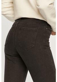 Czarne proste jeansy Vero Moda z podwyższonym stanem