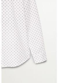 Biała koszula Mango Kids długa, elegancka, na co dzień, z długim rękawem