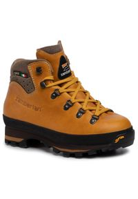 Żółte buty trekkingowe Zamberlan Gore-Tex, z cholewką, trekkingowe