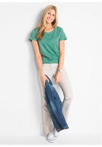 Shirt z okrągłym dekoltem (5 szt.), krótki rękaw bonprix jasna limonka + zielony szałwiowy + kobaltowy + jasnoszary melanż + czarny. Kolor: żółty. Materiał: jersey. Długość rękawa: krótki rękaw. Długość: krótkie. Wzór: melanż #6