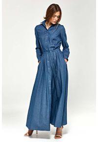 Sukienka Nife z długim rękawem, maxi, koszulowa