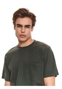 Zielona bluza TOP SECRET z krótkim rękawem, krótka