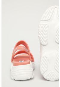 Pomarańczowe sandały Steve Madden gładkie, bez obcasa #4