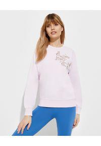 Kenzo - KENZO - Jasnoróżowa bluza z haftem - EDYCJA LIMITOWANA. Kolor: różowy, wielokolorowy, fioletowy. Długość rękawa: długi rękaw. Długość: długie. Wzór: haft. Styl: klasyczny, vintage