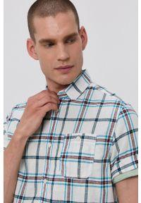 Tom Tailor - Koszula. Okazja: na co dzień. Kolor: biały. Materiał: tkanina. Długość rękawa: krótki rękaw. Długość: krótkie. Styl: casual