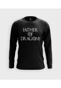 MegaKoszulki - Koszulka męska z dł. rękawem Father of dragons. Materiał: bawełna
