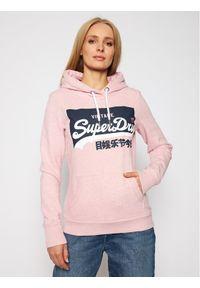 Superdry Bluza Vl O Pastel W2010388A Różowy Regular Fit. Kolor: różowy