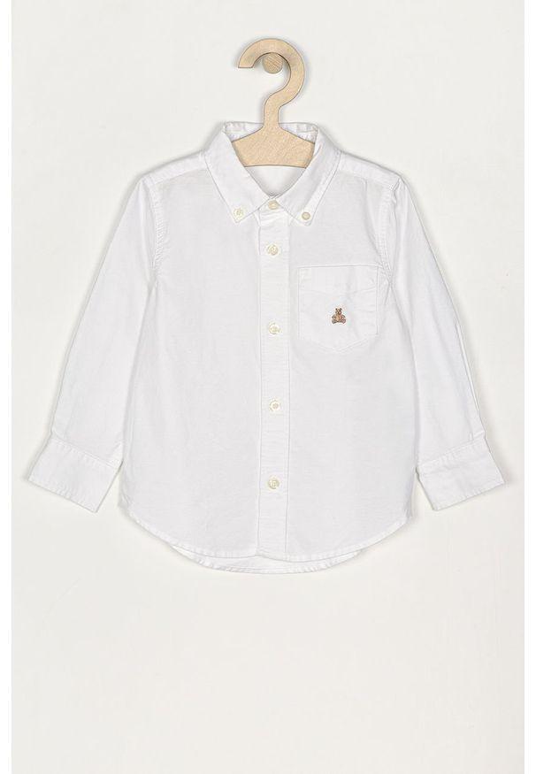Biała koszula GAP elegancka, długa, z aplikacjami