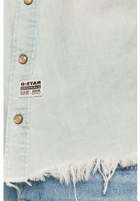 Niebieska kamizelka G-Star RAW na co dzień, bez kaptura, casualowa