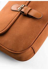 Torebka na ramię bonprix koniakowy. Kolor: brązowy. Rodzaj torebki: na ramię